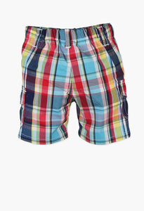 POPLIN BERMUDA SHORTS CHECK FOR BABY BOY