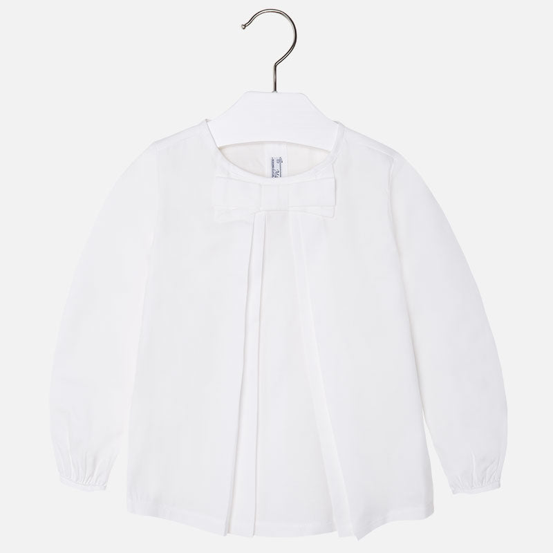 Mayoral long sleeved white blouse