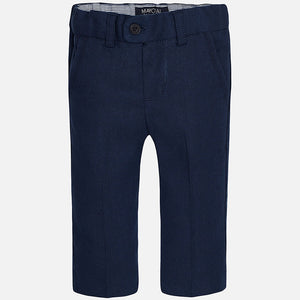 Mayoral Baby Boys Linen Navy Pants