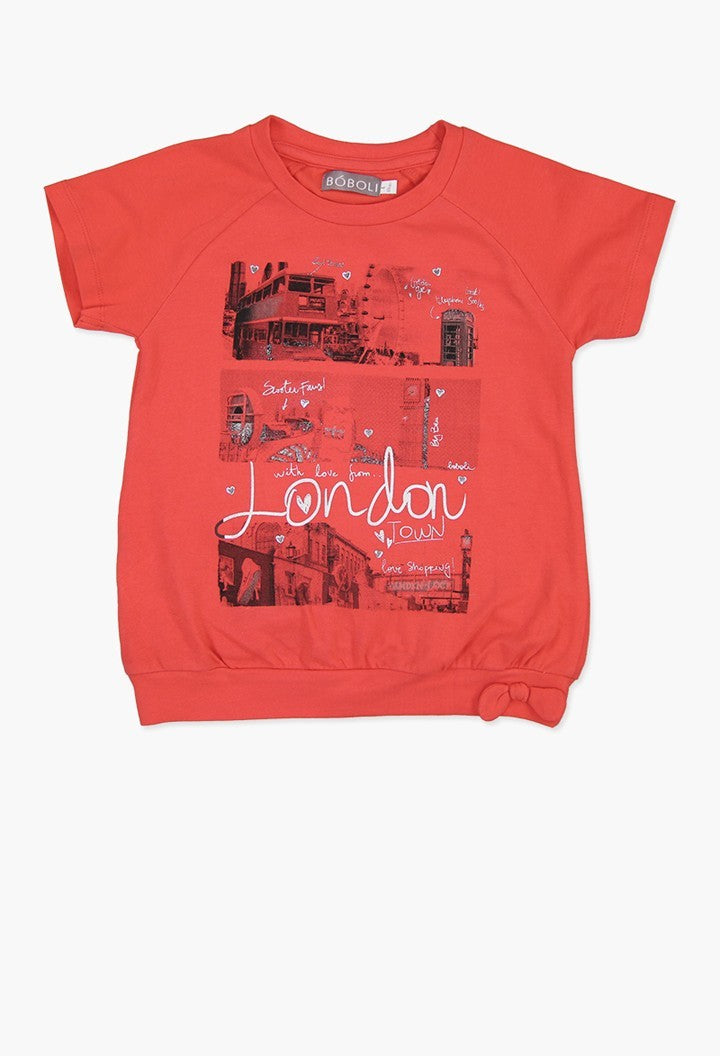 STRETCH KNIT T-SHIRT FOR GIRL