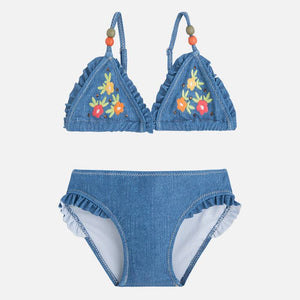Mayoral Bikini Flower Embroidered Jeans Color