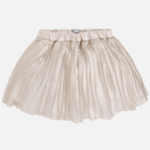 Mayoral Pleated Skirt Color Gold Metallic