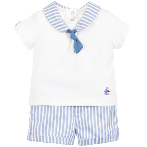 Mayoral Baby Boys Blue and White Set