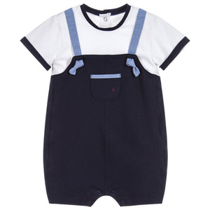 Mayoral Baby Boys Blue Dungaree Shortie