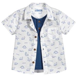 Mayoral Boys Printed Layered Shirt