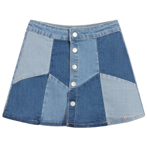Mayoral Girls Blue Denim Patch Skirt