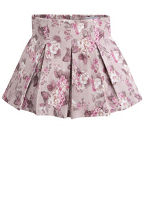 Mayoral Floral Print Pleated Skirt