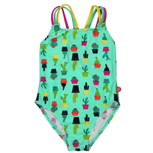 BOBOLI GREEN CACTUS PRINT SWIMSUIT