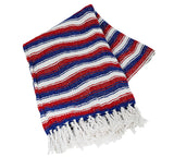 "Woven Beach Blanket Large 48""x72"" - patriotic"