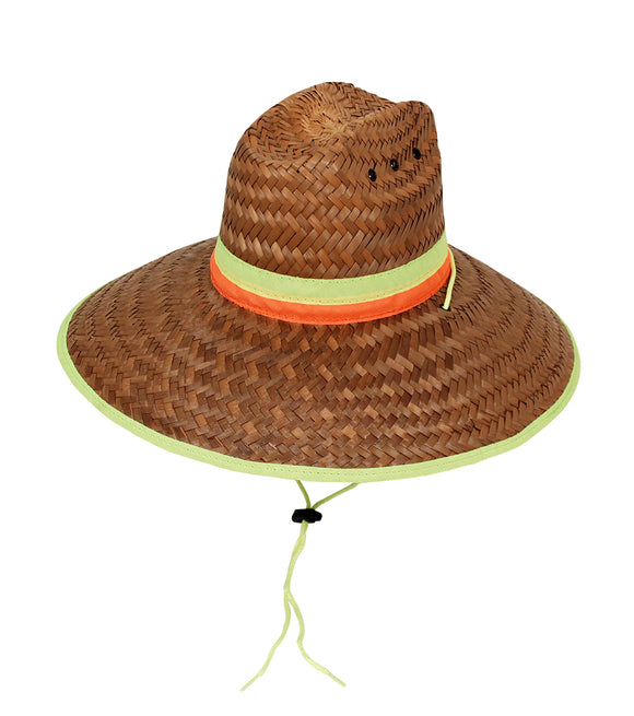 Lifeguard Hat flexfit Hi-Viz Neon w/ vents