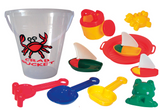 Crab Bucket Playset - 11 Pieces