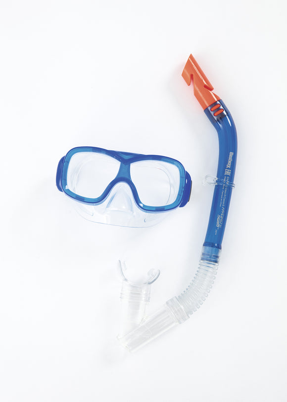 Sea Pike Mask & Snorkel Set - youth blue