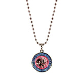 St. Christopher Necklace Small - fuchsia/baby blue