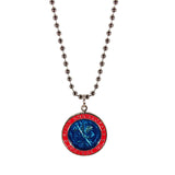 St. Christopher Necklace Large - royal blue/red