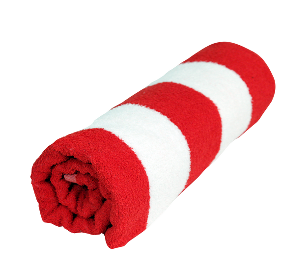 Cabana Stripe Towel Ultra - red