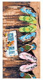 Beach Sandals Towel