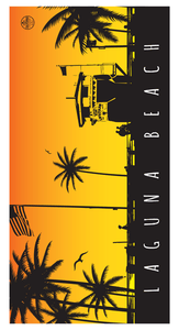 Laguna Beach Souvenir Series Towel