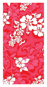 Hibiscus Towel - red
