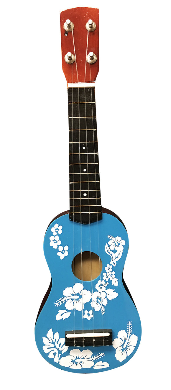 Ukulele Floral Face Painted 20