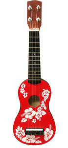 "Ukulele Floral Face Painted 20"" - red"