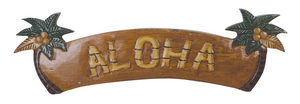 "Palm Tree ""Aloha"" Sign 22"" x 7"""