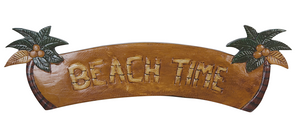"Palm Tree ""Beach Time"" Sign 22"" x 7"""