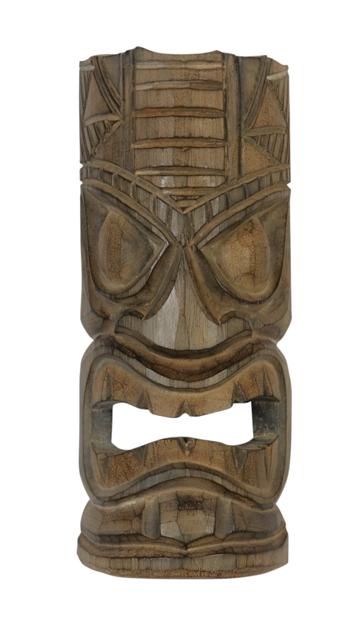 Tiki Mask Antique Brown 12