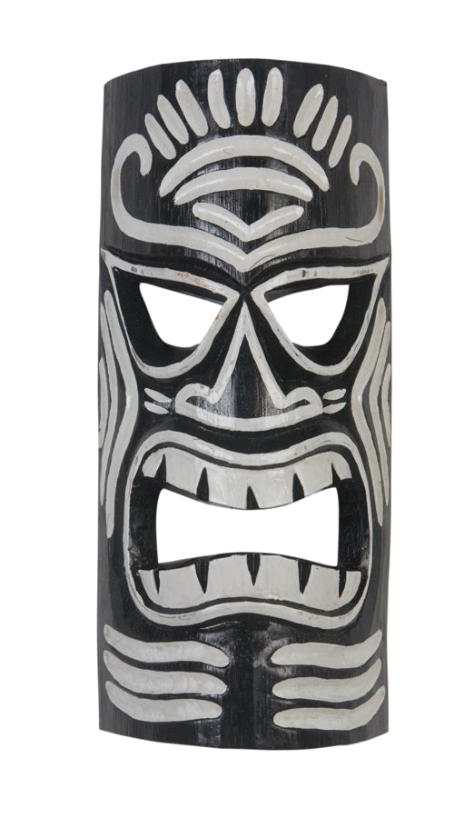 Tiki Mask Black & White 12