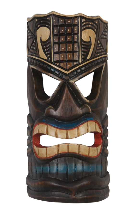 Tiki Mask Painted 12