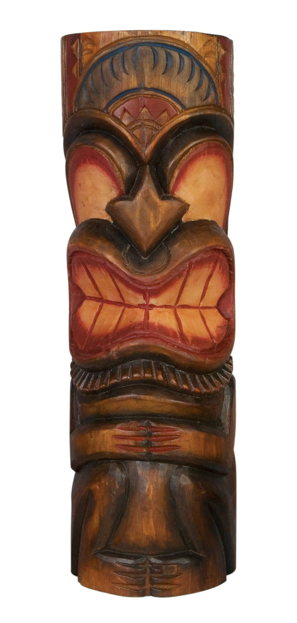 Hand Carved Tiki Totem Painted 20
