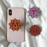 Pink Glitter Collection Initial phone grip