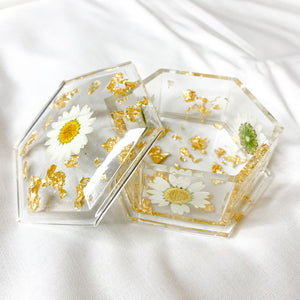 Daisy Collection Trinket Dish With Lid