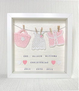 Girl Christening / Baptism Box Frames