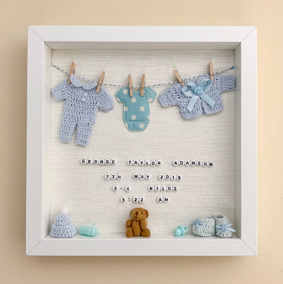Baby Boy Box Frame