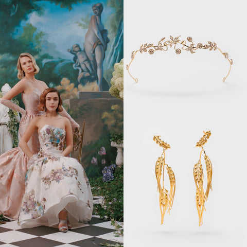 Cécile Boccara Crown, Wheat Earrings