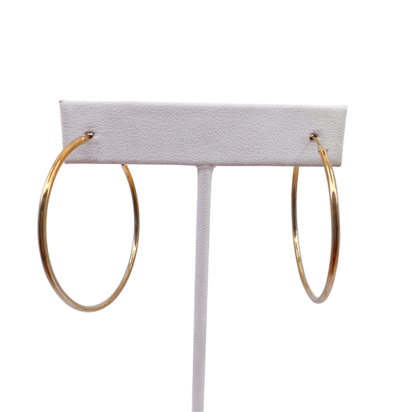 Gold Plated Endless Hoop Earrings