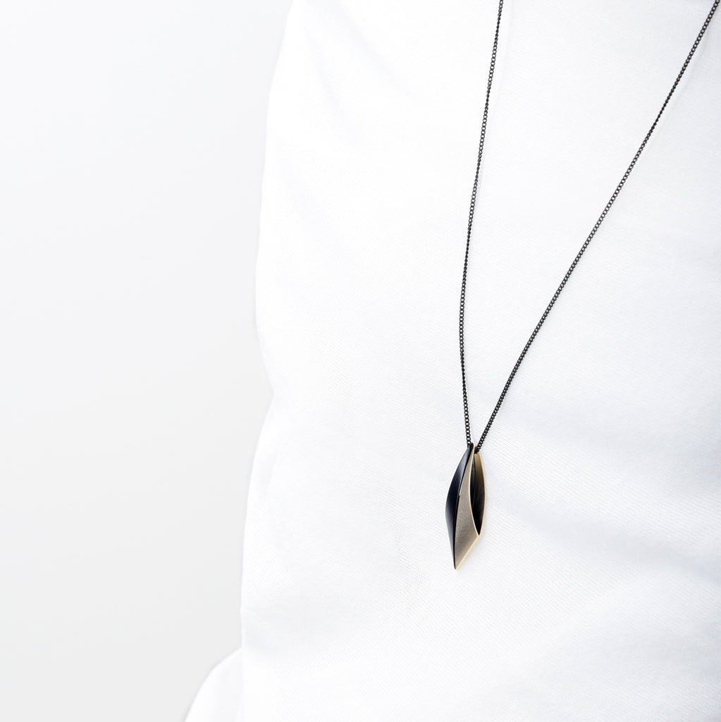 Dual Taper Ellipse Necklace