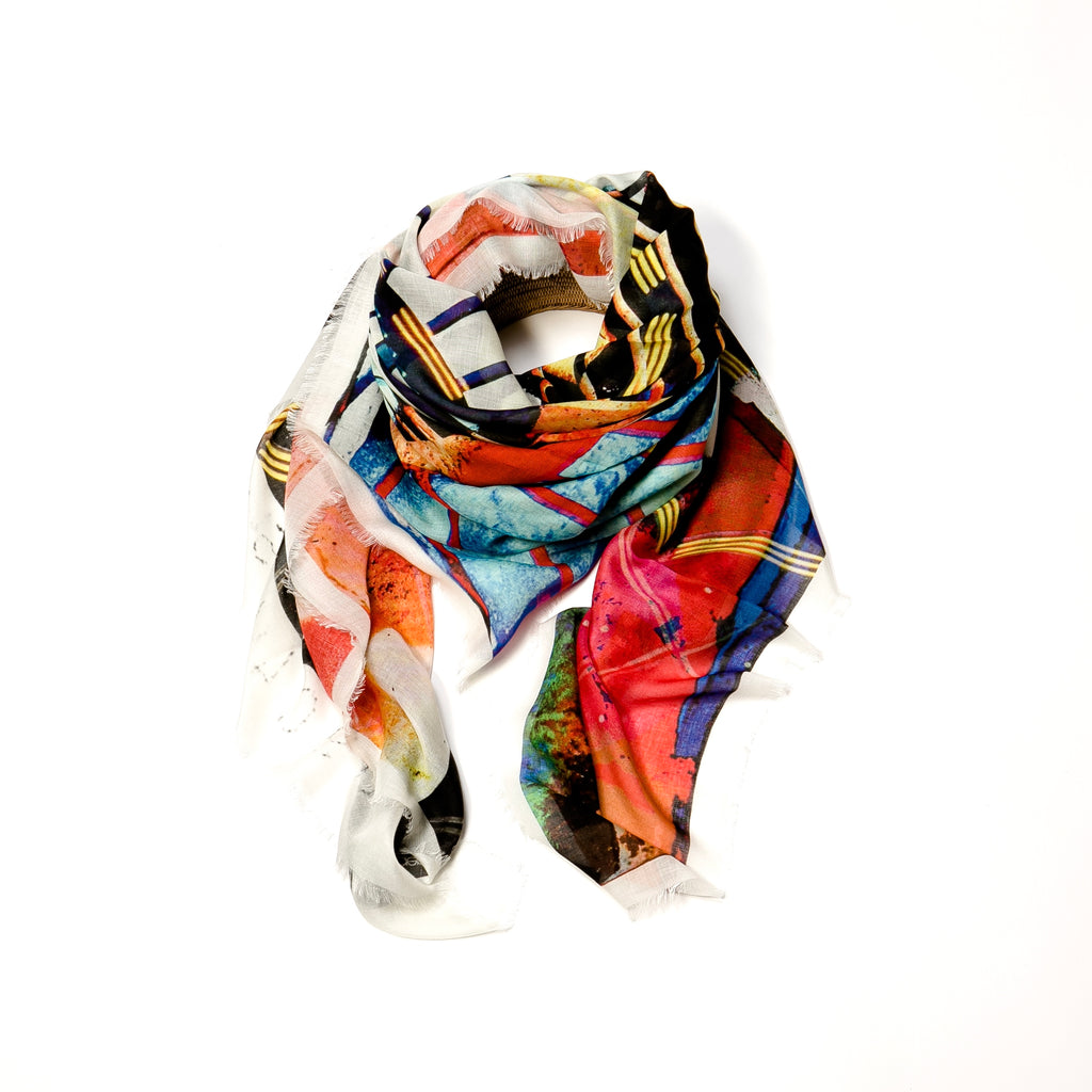 Ode to Chicago Modal Silk Scarf