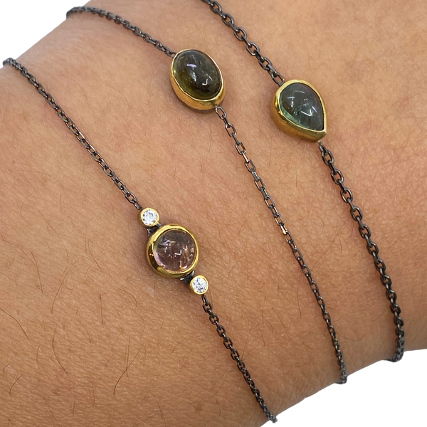 Oxidized Gemstone Bracelets