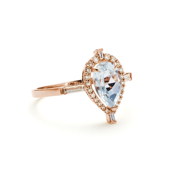 Marchesa Aquamarine Diamond Ring