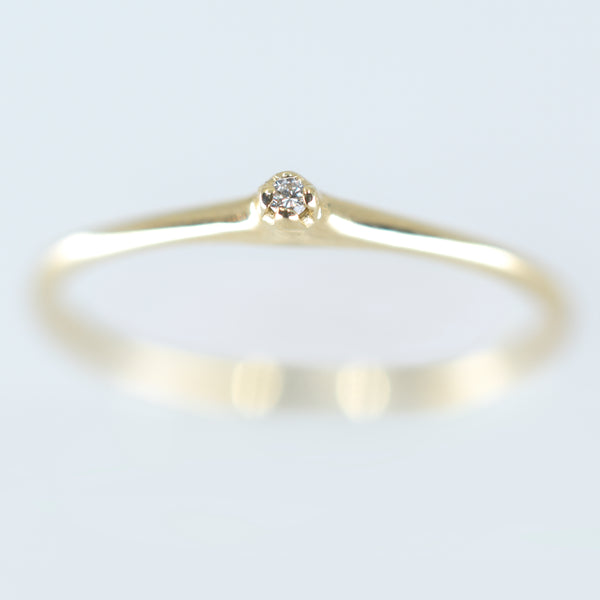 14k Yellow Gold Petite Diamond Ring