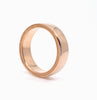 Men's 6mm 14kr Rose Gold Wheat Pattern Design Band Adornment and Theory