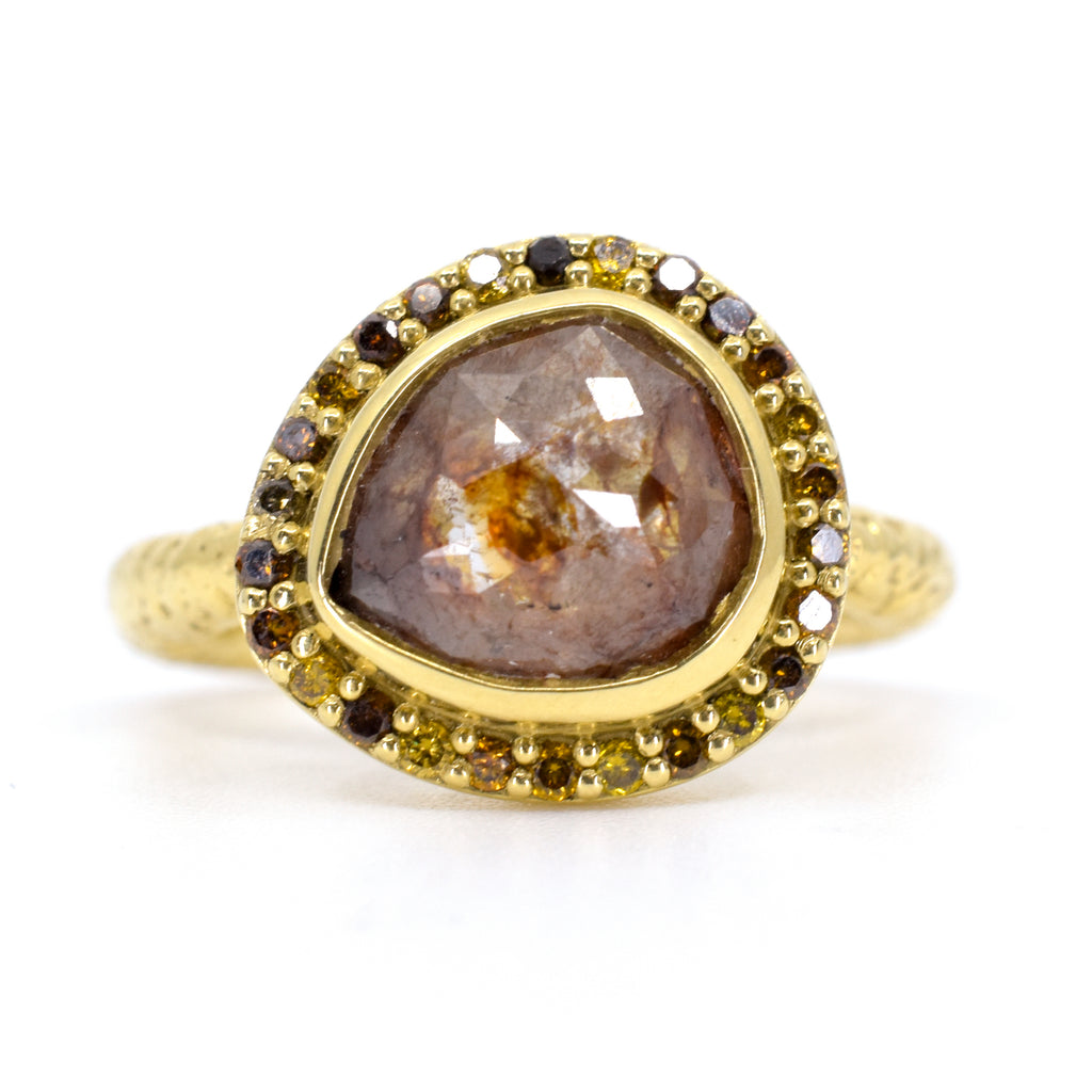 1ct Brown Diamond Ring