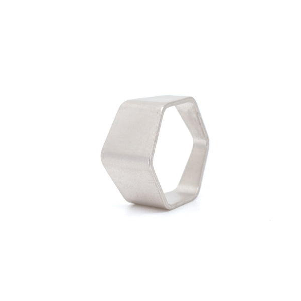 Matte Hexagon Ring