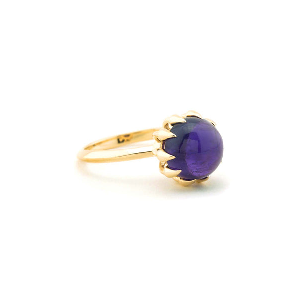Large Amethyst Bubble Ring