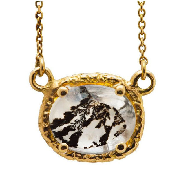 Small Gold Dendritic Necklace