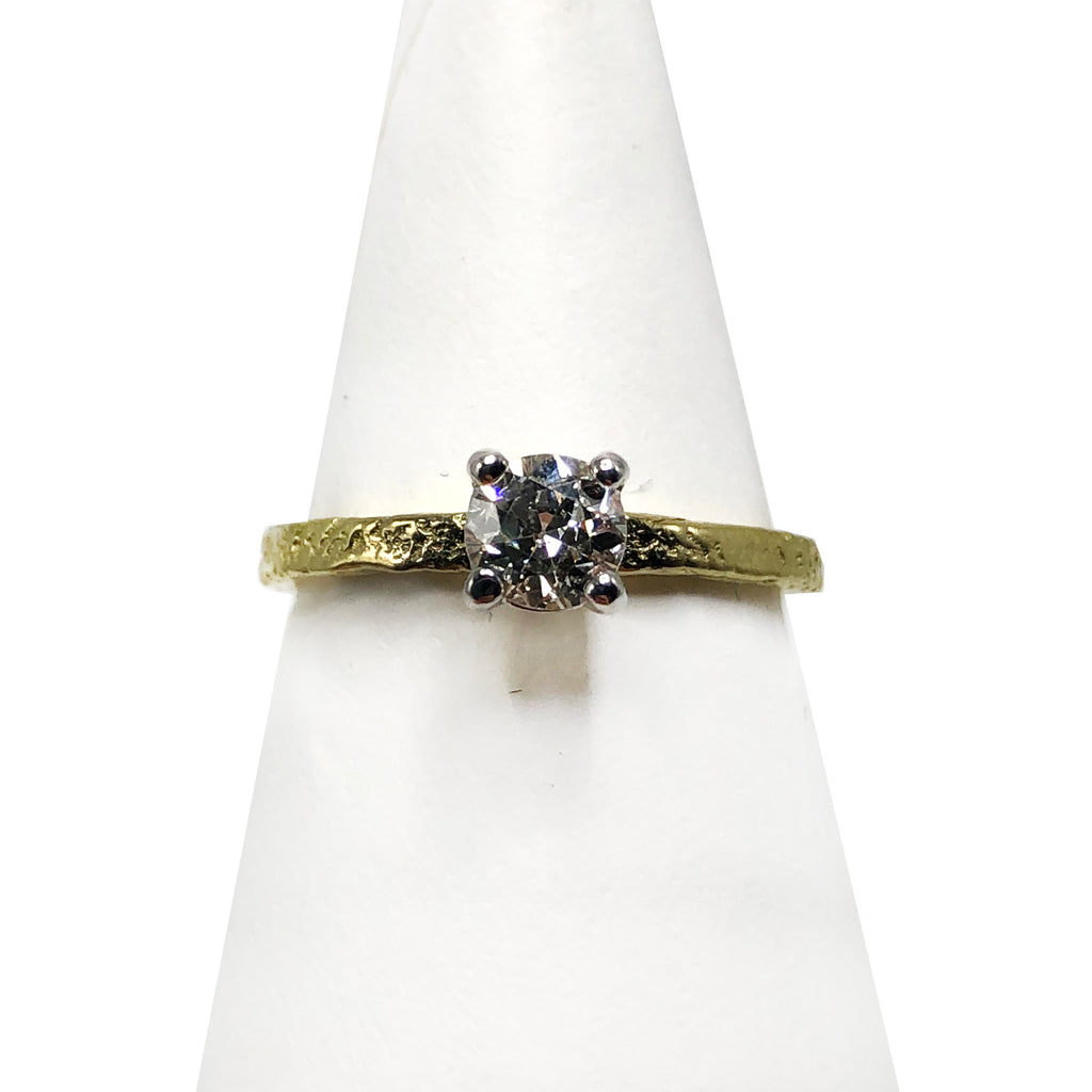Fair Trade 18K Diamond Solitaire