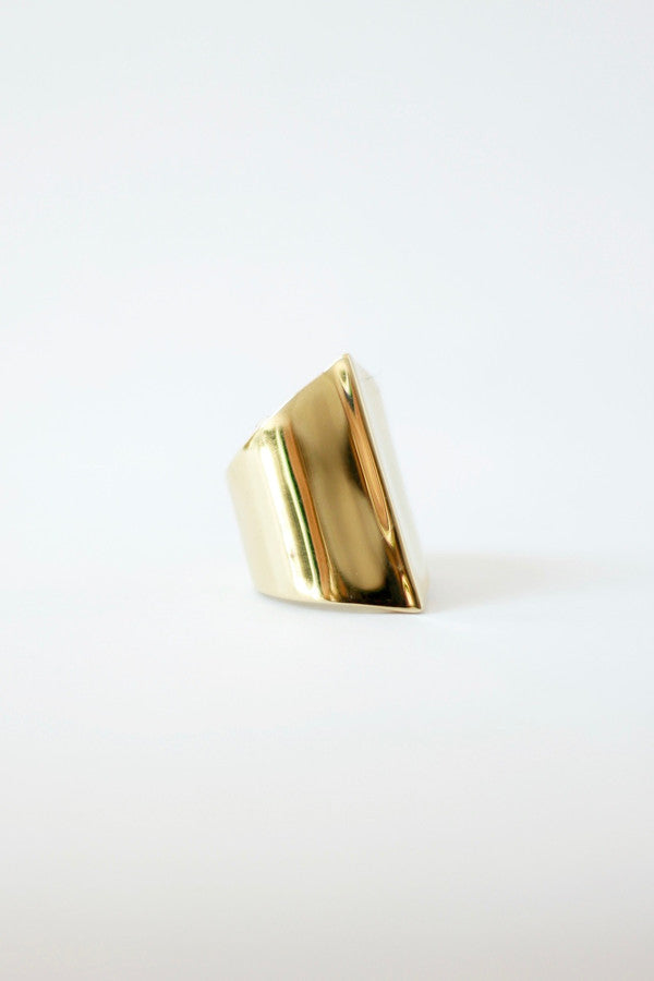 Brass Peak Ring