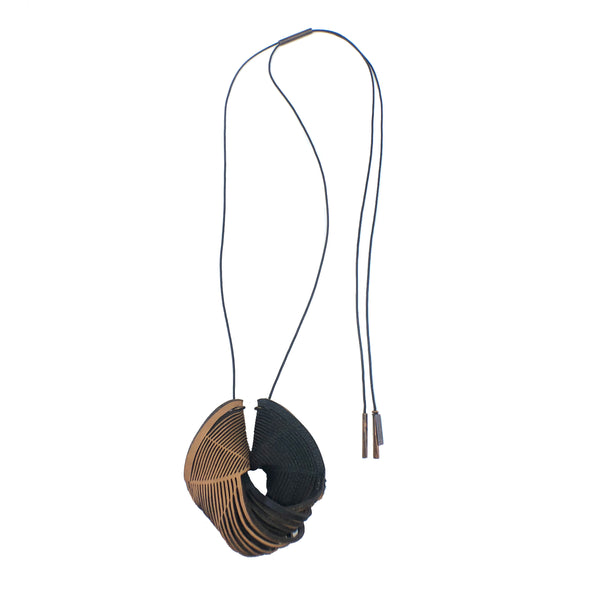 Double Saddle Leather Necklace