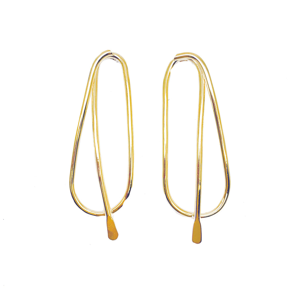 Oval Loop Hoops